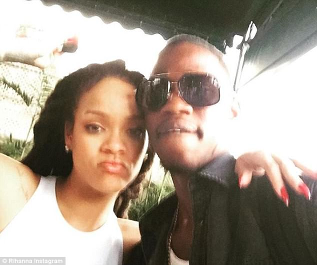 Grieving: Rihanna intimated that she had spent time with her cousin as recently as Christmas Monday