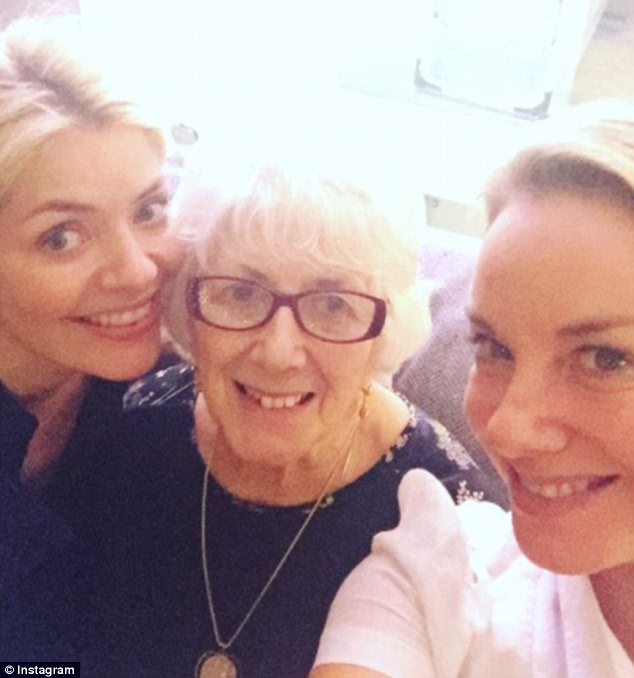 Super close: Tamzin also posted a similar picture of the golden-haired trio, including herself, Holly and Lina, on her Instagram