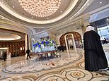 A file picture shows the lobby of the Ritz-Carlton Hotel in Riyadh, where Saudi elites have been held since being arrested in an anti-corruption purge in November