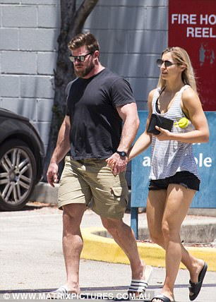 On the same day, the pair were also seen walking hand in hand in Sydney's northern beaches