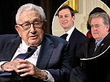 Henry Kissinger (pictured, December 2017) has said it's an all out-war in the White House of President Donald Trump. 'It is a war between the Jews and the non-Jews,' he told Michael Wolff