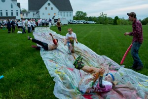awesome youth ministry event color slip and slide