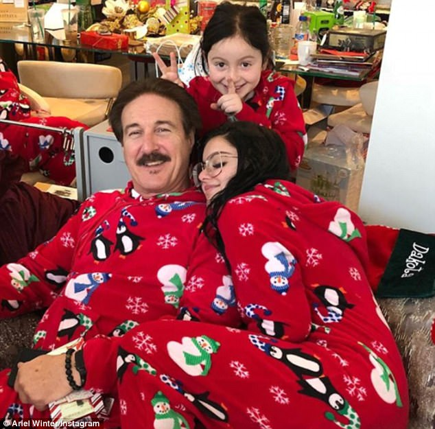 Daddy's girl: On Wednesday, Ariel Winter made sure to show her dad just how much she loves him while posting a sweet photo on Instagram for his birthday