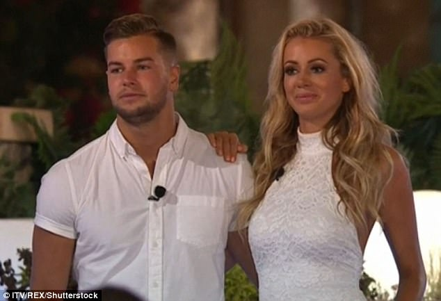 Back in the day:Olivia shot to fame on ITV2 Love Island's in June this year, where she met and embarked on romance with her current boyfriend Chris Hughes (above on the show)