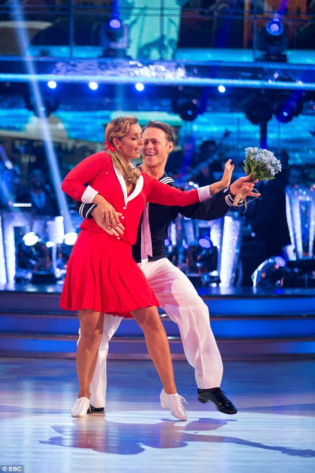 On the dance floor: The pair proved to be an undeniably strong dance team when they reached the final of BBC's Strictly Come Dancing last year