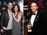 Disaster: Ally Sheedy went after James Franco on Twitter following his Best Actor win at the Golden Globes on Sunday (pair above in 2014 at the opening night party for The Long Shrift)