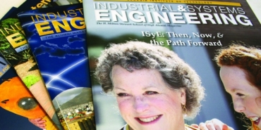 A stack of ISyE magazines