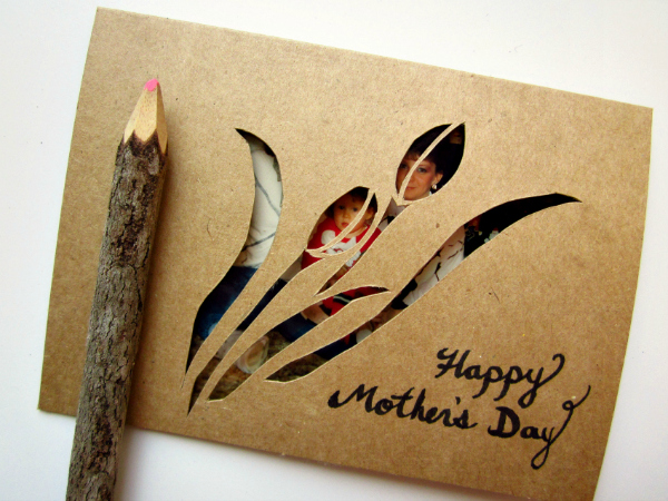 mothers day paper cut card