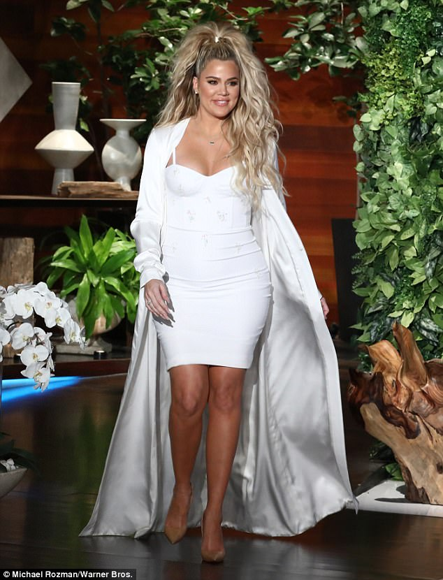 Mom's the word:While Khloe appeared on the chat show to discuss season two of Revenge Body, the topic of conversation quickly turned to her impending arrival