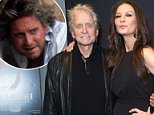 Accused: Michael Douglas (shown with wife Catherine Zeta-Jones at a movie screening in NYC) has come forward to shut down claims that he masturbated in front of a former employee 32 years ago