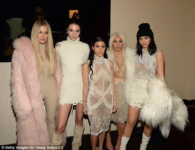 Baby boom:Khloe is not the only member of the Kardashian-Jenner family to be expecting in 2018, with Kim, 37 (second right) and Kylie, 20, (right) also preparing to welcome babies