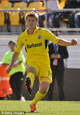 Sudden loss: Kirk Urso #15 of the Columbus Crew has unexpectedly died at the age of 22