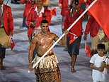 Brrrrrrr: Tonga's Pita Taufatofua went topless as a flagbearer at the Rio Olympic Games, but will presumably be wearing a bit more when he competes as a cross-country skier at the Pyeongchang Winter Olympics