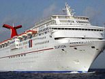 A woman aboard the Carnival Elation fell from her cabin's balcony to a deck 'several' stories below and died on Friday morning (File photo of the Elation)