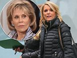 Drama: Megyn Kelly is under fire, with celebs criticizing comments she made about Jane Fonda on Monday morning (Kelly leaving work on Monday)