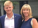 Kyle Edmund with his parents, Steven and Denise, at his sister Kelly's graduation