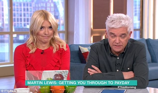 Spat: Her stylish display comes after she was involved in a spat with This Morning's money expert Martin Lewis who got flustered when she attempted to get a viewer's money query answered
