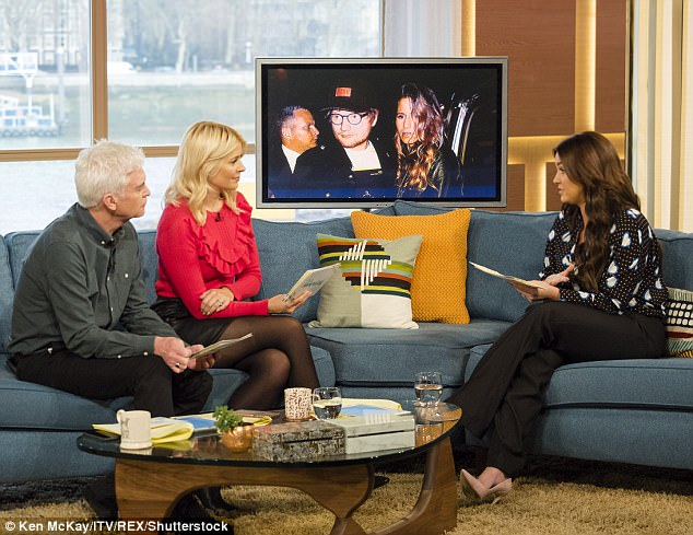 Lots to discuss: Phil and Holly also talked through the latest celebrity gossip with Vicky Pattison (right)