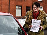 Chronically Sonia Walmsley, 47,was left a furious note calling her a 'selfish b******' for parking in a disabled bay
