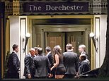 Businessmen outside the secretive Presidents Club charity dinner, at which more than 100 'hostesses' were brought in, with some reportedly being groped andpropositioned