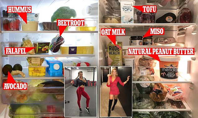 Instagram fitness stars open fridges to show what they eat