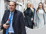 James Stunt arrived at the High Court Family Division on Wednesday