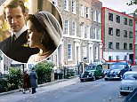 As the Duke of Edinburgh, played by Matt Smith, is filmed driving a vintage Jaguar in to the road, the new block with large uPVC windows comes into shot