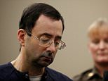 Going away:Larry Nassar (above) was sentenced to 175 years in prison by Judge Rosemarie Aquilina on Wednesday after a seven-day hearing in Ingham County Court