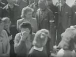 Hundreds of locals were taken around the notorious Buchenwald concentration camp in Weimar, Germany, just days after it had been liberated by American troops