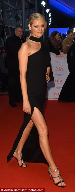 Walk this way: All eyes were on Tess as she debuted her raunchy look on the red carpet