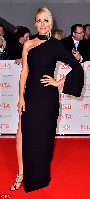 Posing up a storm: Tess looked incredible as she rubbed shoulders with the star-studded line up for the evening
