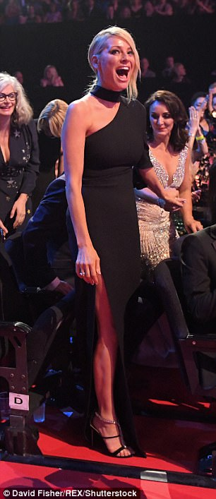 Winner! Tess beamed as Strictly Come Dancing was announced the winner of the Best Talent Show award