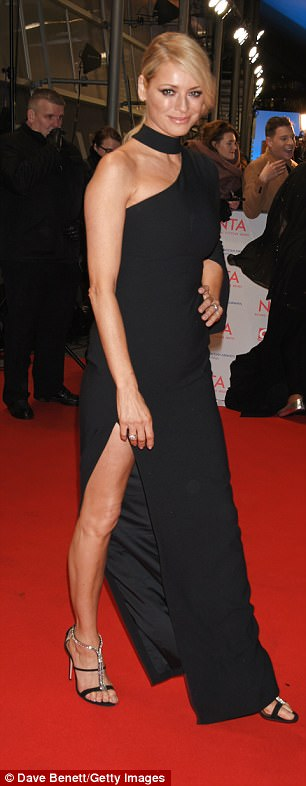 Strut her stuff: Tess exuded glamour in her get-up, finished with sparkling killer heels which elongated her statuesque frame