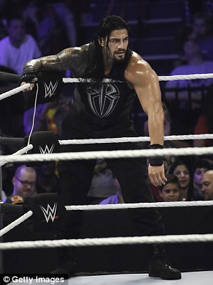 Rodriguez also named actor Josh Duhamel and WWE star Roman Reigns, right. Both have denied any steroid use or connection to Rodriguez