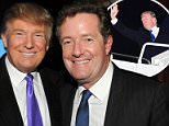 Piers Morgan has landed the first international interview with Donald Trump since he took office (pictured together in New York in 2010)