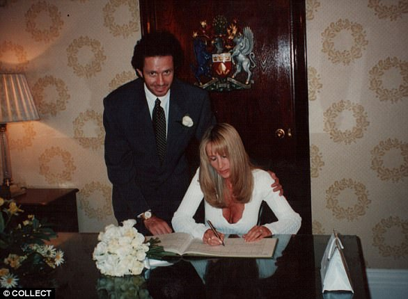 Scot and Michelle Young on their wedding day in 1995, they split in 2006 after 11 years together before entering a bitter divorce battle over his fortune