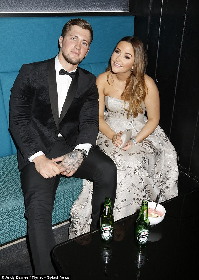 Beer necessities: Jacqueline Jossa and Dan Osbourne enjoyed beers as they sat together