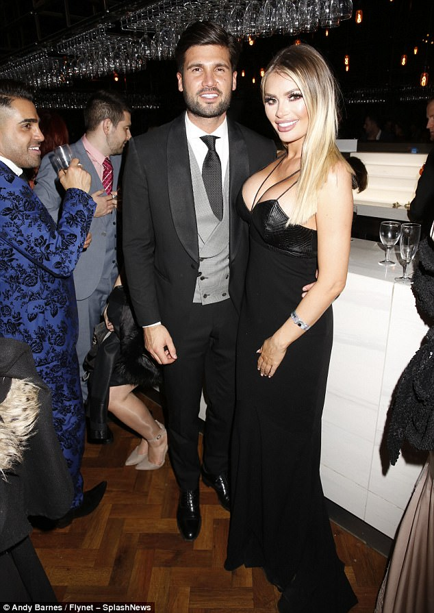 Bash: Chloe Sims and Dan Edgar were also spotted keeping the party going at the boozy bash