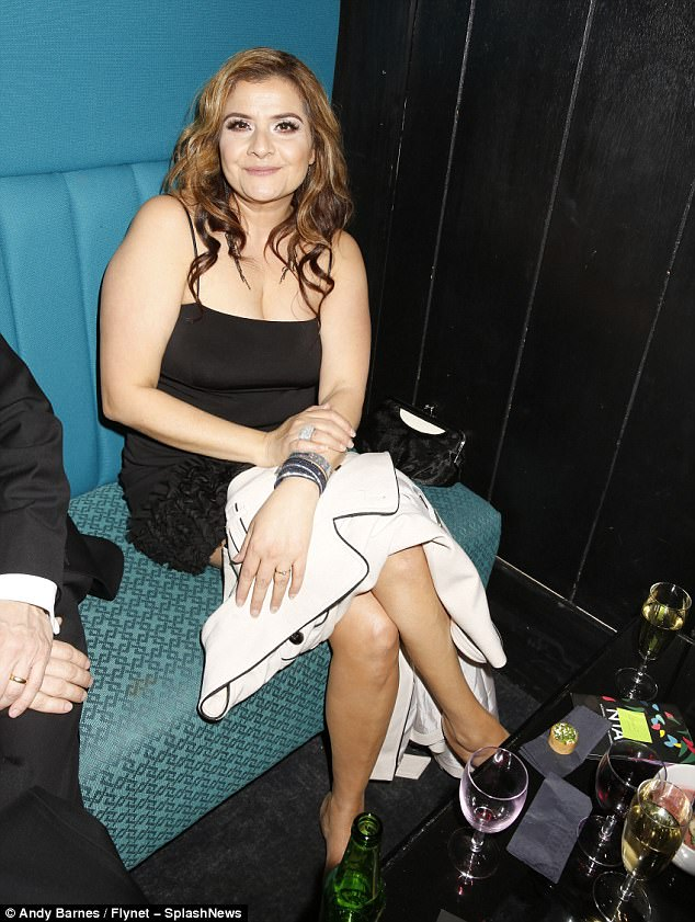 Reveller: EastEnders star Nina Wadia was also among the long list of VIP revellers at the bash