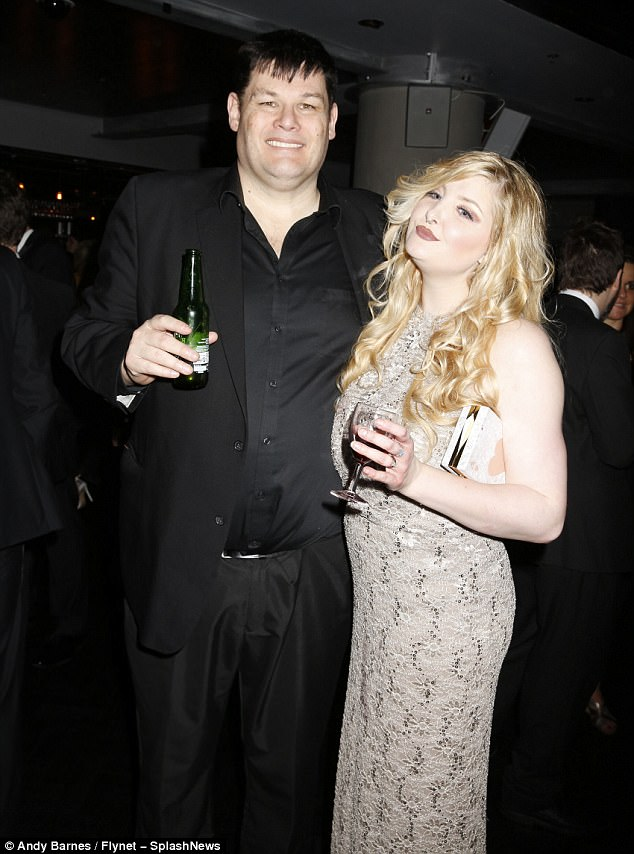 So in love: The Chase star Mark 'The Beast' Labbett arrived at the event with his wife Katie