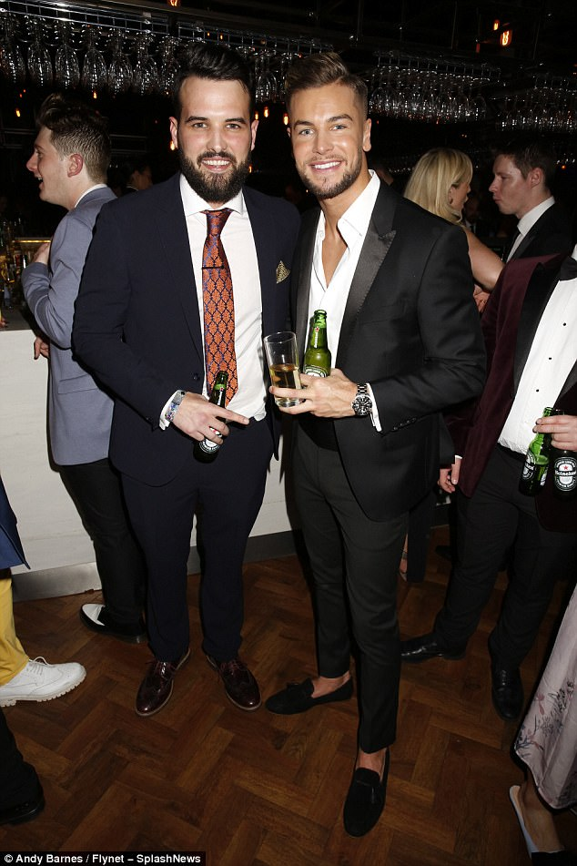Dapper: Ricky Rayment, left, and Chris Hughes, right, put on a dapper display at the gathering