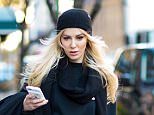 FROZEN OUT: Scottish actress Louise Linton, pictured in New York, was unable to make the trip to Davos, Switzerland to accompany Treasury Secretary Steven Mnuchin