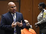 """FILE - In this March 20, 2015 file photo, Attorney Matthew Fletcher, left, speaks for his client, Marion """"Suge"""" Knight, right, in a court appearance for a bail review hearing in his murder case in Los Angeles. Authorities say the high-profile Los Angeles attorney, Fletcher, has been arrested. Los Angeles County sheriff's spokeswoman Nicole Nishida tells The Associated Press that Matthew Fletcher was arrested on a warrant Thursday, Jan. 25, 2018. (AP Photo/Robyn Beck, Pool, File)"""