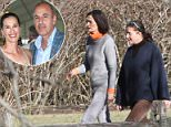 Annette looked somber as she was seen taking a walk with a friend on Thursday