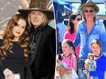 Lisa Marie Presley's estranged husband Michael Lockwood is asking for $263,100 a year in spousal support. Pictured: Lisa Marie and daughter Riley Keough attend an event in LA last October with her twins she had with Lockwood, Harper and Finley