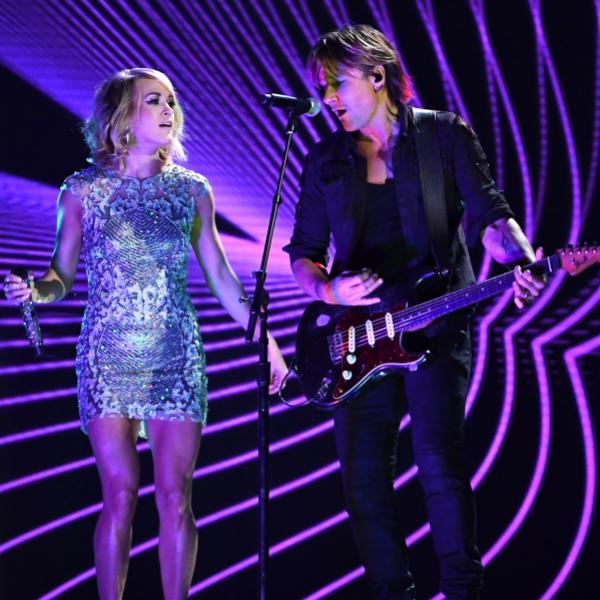 Carrie Underwood, Keith Urban perform at the 59th GRAMMY Awards
