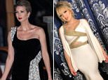 Ivanka Trump, 36, and her husband, Jared Kushner, were seen decked out in evening formal wear as they stepped out from their Washington, DC home (pictured)