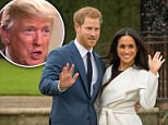 US president Donald Trump has said he is not aware of any invitation for him to attend Prince Harry's wedding to Meghan Markle