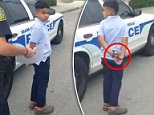 A Miami mother of a seven-year-old boy expressed outrage on Saturday when she saw her son handcuffed by police after he is said to have hit his teacher and then taken to a mental institution