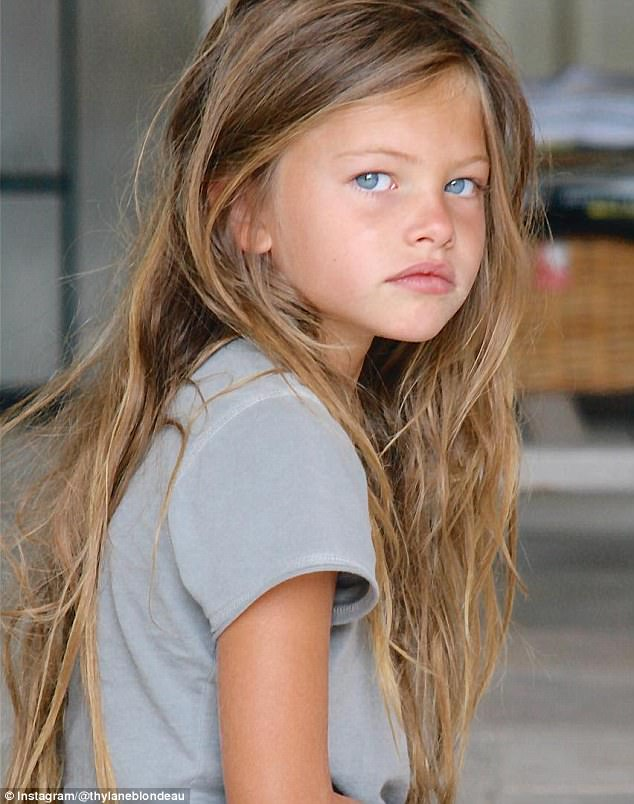 Past: Thylane, the daughter of the French TV presenter Véronika Loubry and soccer player Patrick Blondeau, started her career as a child model